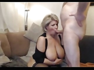 Sex with a milf after dinner amateur blonde blowjob